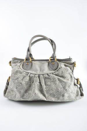 Louis Vuitton Grey Denim Monogram Denim Neo Cabby MM Bag LH1049