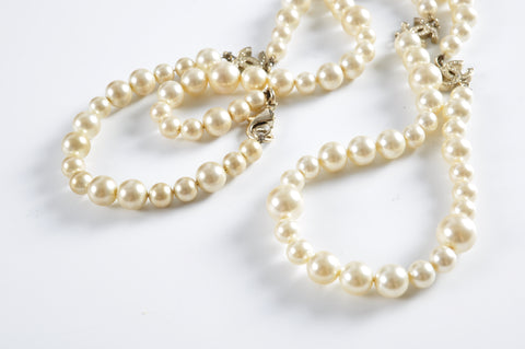 Chanel Pearl CC Necklace - Glampot
