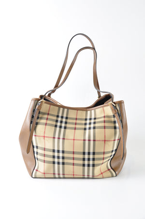 Burberry Horseferry Check Small Canterbury Panels Tote - Glampot