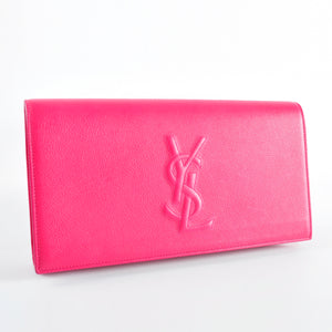 YSL Clutch in Fuschia