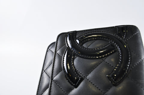 6468b86729be Chanel Cambon WOC Black Lambskin with CC Patent Logo and Pink Interior  16524149 - Glampot