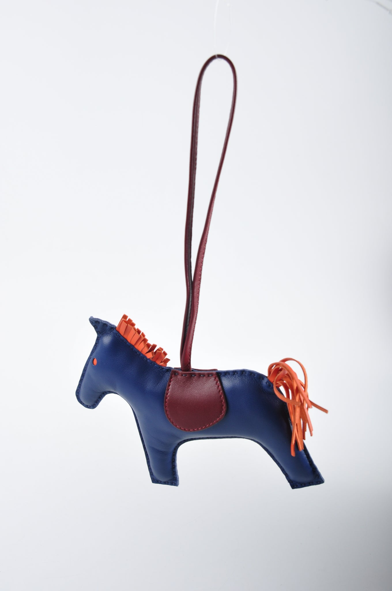 Hermès Rodeo GM Anne Milo Blue Mart / Orange Poppy / Rouge Ash Charm