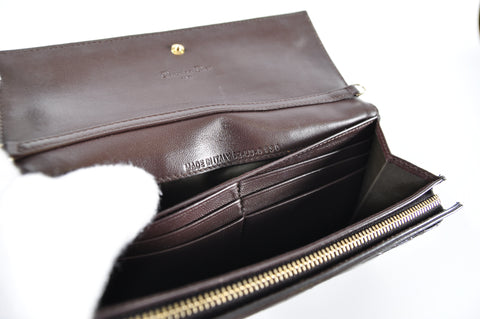 Christian Dior Lady Dior Croisiere Wallet Patent Chocolate 02-LU-0130 - Glampot