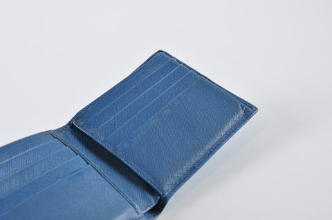 Prada Blue BiFold Mens Wallet