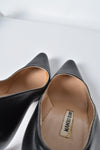 Manolo Blahnik Black Leather Heels