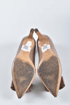 Salvatore Ferragamo Nude Mimi 70 Embellished Leather Court Shoes