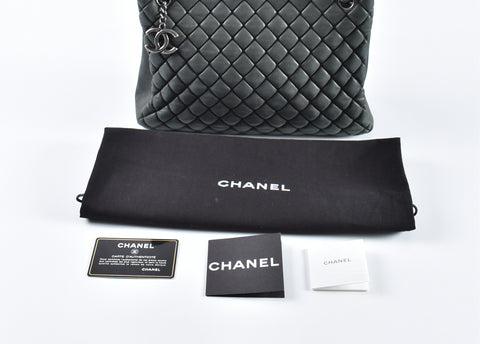 dab598c5430 Chanel Quilted Iridescent Calfskin Leather New Bubble Tote Bag 17097652