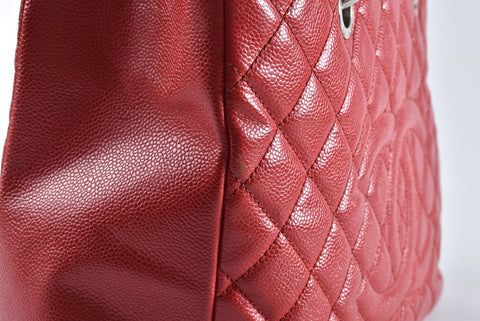 Chanel GST Red Caviar SHW - Glampot