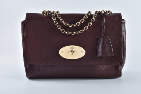 4f1d97bf63 Mulberry Medium Lily Oxblood Natural Leather 10404169 – Glampot