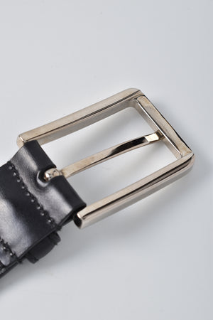 Prada Men's Black Leather Belt SHW