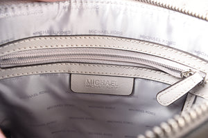 Michael Kors Mercer Grey Leather Tote Bag