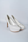Sergio Rossi White Peeptoes Pumps