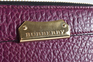 Burberry Zip Around Purple Wallet