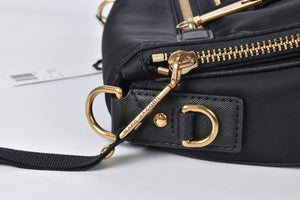 Marc Jacobs Black Shoulder Bag Nylon Diagonal Slant GHW