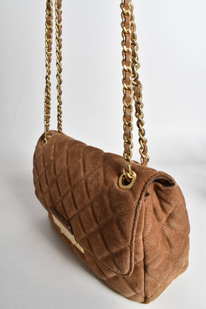 Michael Kors Brown Large Sloan Suede Chain Shoulder Bag