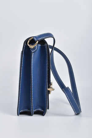 Hermes Sac Roulis 23 Evercolor in Bleu Brighton Permabrass Hardware