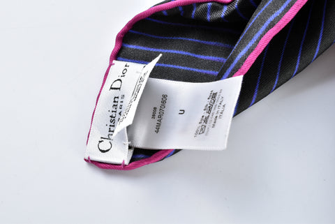 Christian Dior Violet/Black Scarf 44MAR0701606