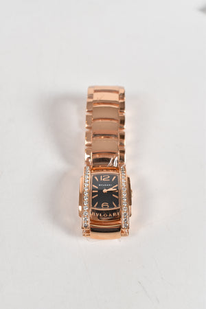 Bvlgari Assioma Watch 31mm in Pink Gold Case 18kt Bracelet with Black Dial