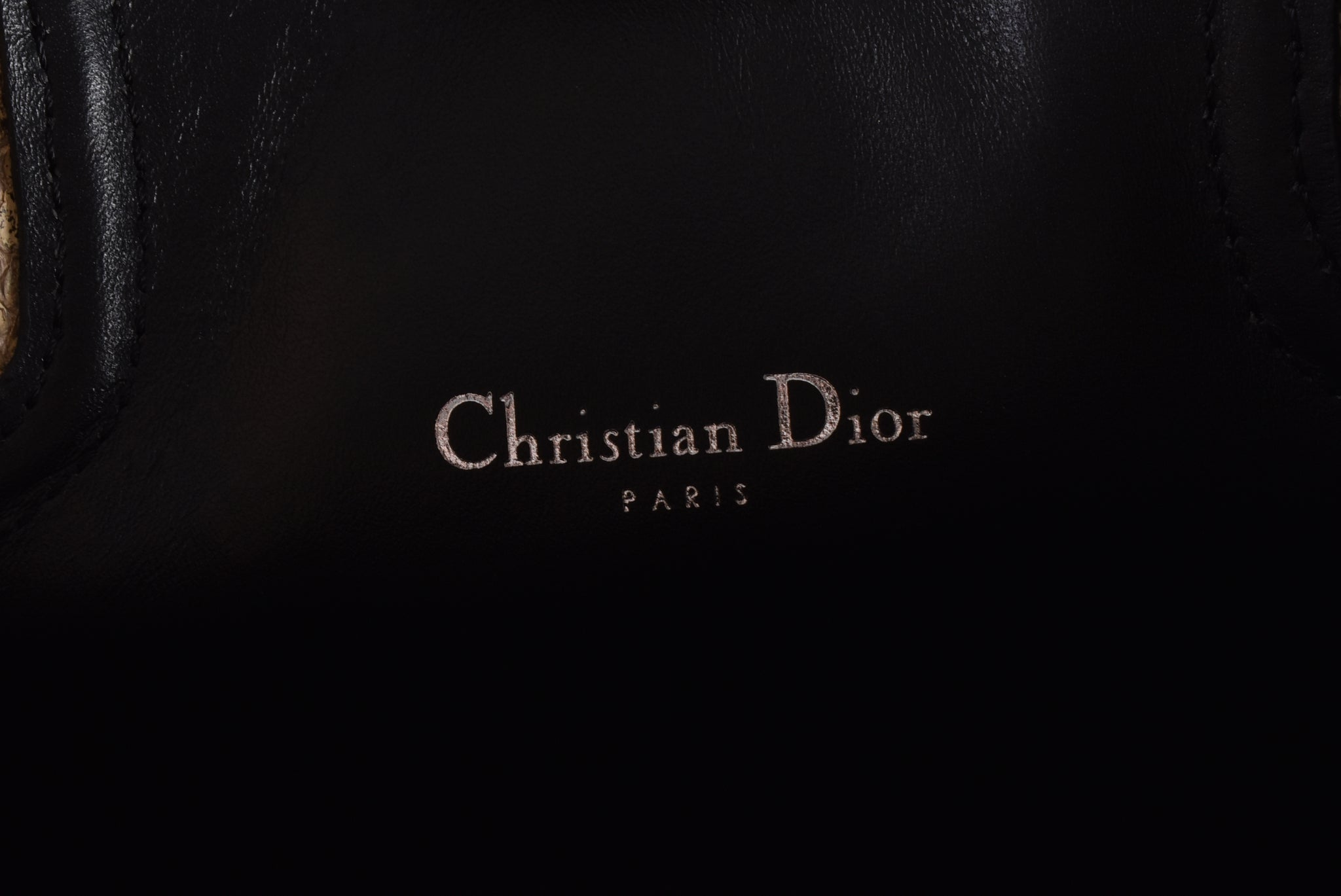 Christian Dior Black leather Tote Bag with Snake Skin Handles - Glampot