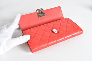 Chanel Flap Wallet in Red (Spring 2018) SHW