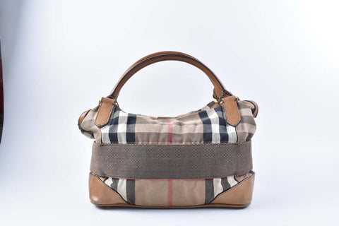 Burberry Bridle Check Canvas Shoulder bag with Strap
