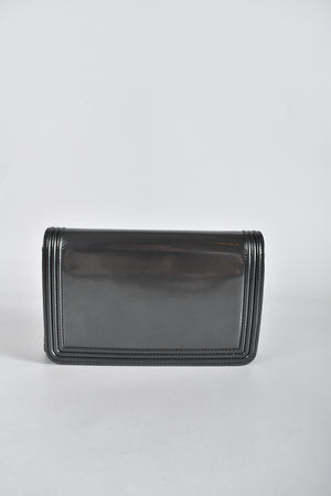 Chanel Wallet On Chain (WOC) Patent Calf in Grey
