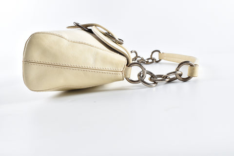 Furla Chain Beige Leather Shoulder Bag
