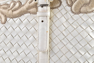 Bottega Veneta White Tote Bag - Glampot