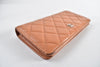 Chanel Brown Matelasse Quilted Caviar Wallet