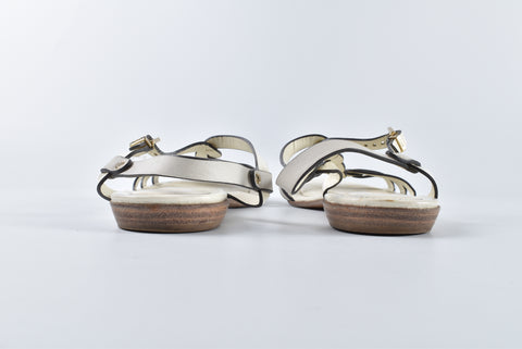 Tod's White Patent Leather Sandals Size 37