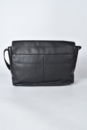 Michael Kors Black Leather Messenger Bag