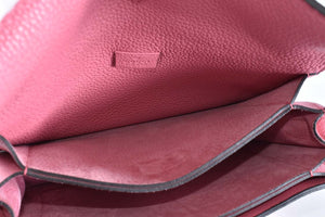 Gucci Pink Pebbled Leather Soft Jackie Flap Shoulder Bag