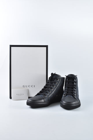 Gucci 426186 High Top Common Canvas 04 T in Size 39 1/2