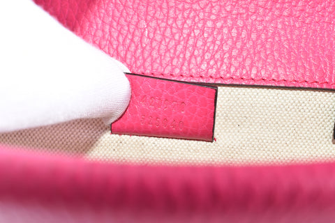 Gucci Pink Leather Mini Dionysus Shoulder Bag