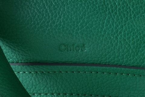Chloe Green Calfskin Leather Large Paraty Bag