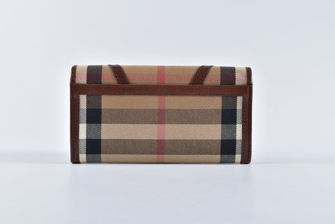 Burberry Checkered Flap Women's Wallet - Glampot