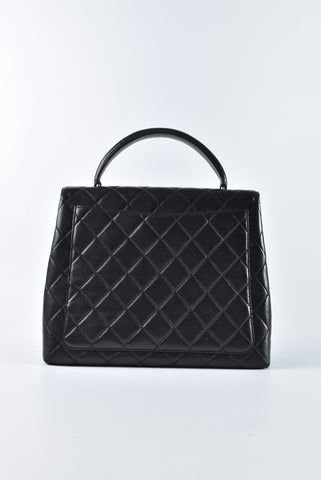 Chanel Vintage Kelly Quilted Lambskin in Black SHW