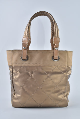 Chanel Biarritz Bronze Small Tote 11802548 - Glampot