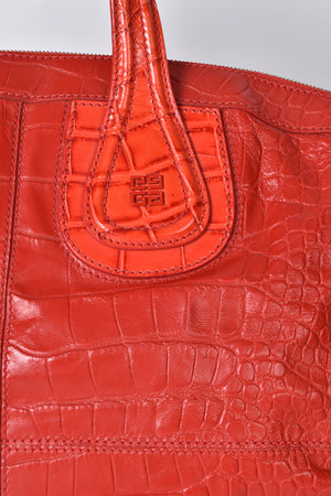 Givenchy Croc Stamped Large Nightingale Red