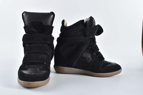 Isabel Marant Bekett All Black Suede Sneakers