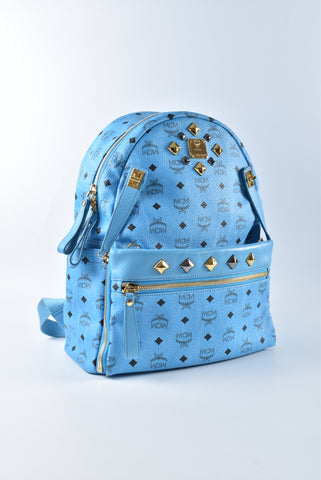 MCM Medium Dual Stark Light Blue Backpack MMK 4SVE79 LU001