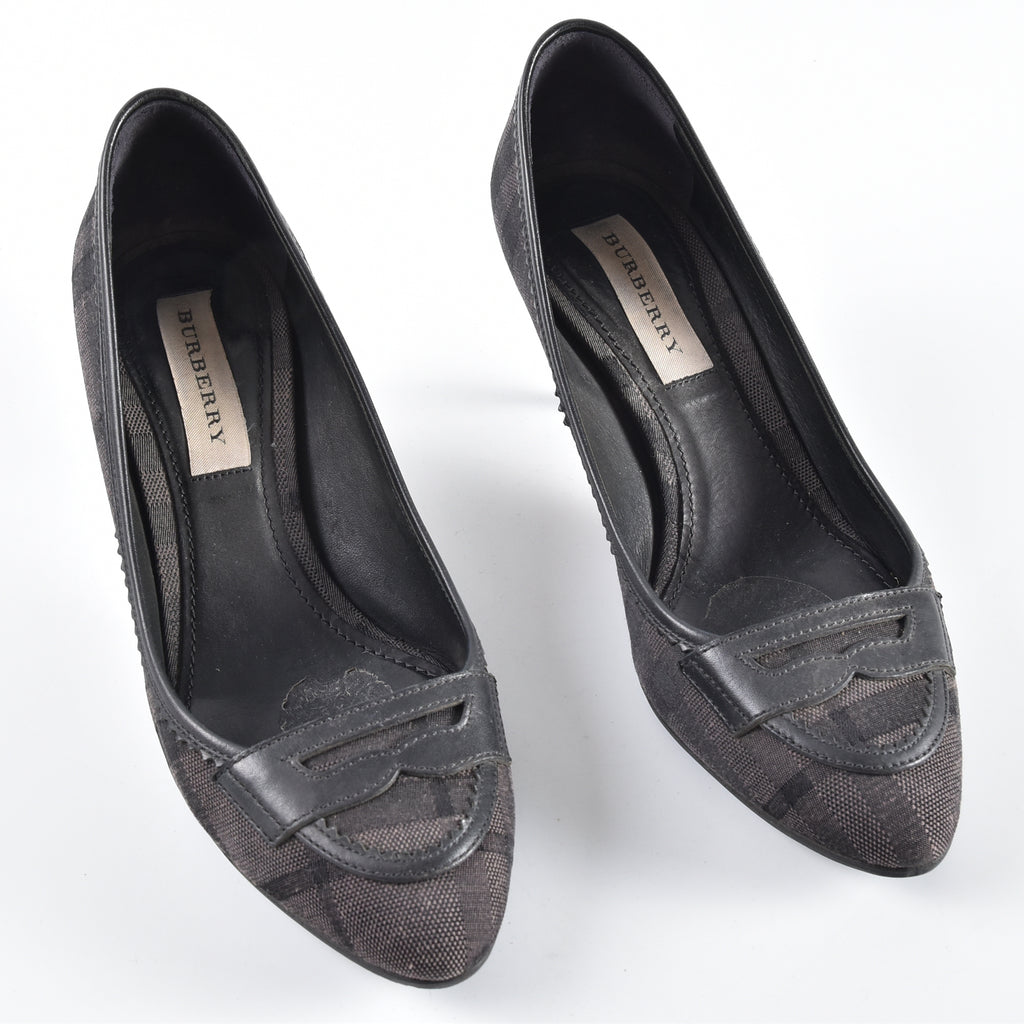 Burberry London Jacquard Throwley 65 Pump C Fit Size 37 - Glampot