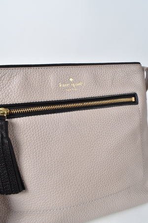 Kate Spade Chester Dessi Leather Crossbody Bag in Beige