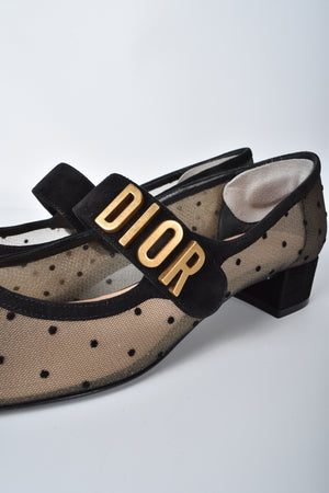 Christian Dior Baby D Ballerina Flats in Black