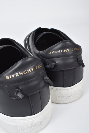 Givenchy Urban Street Logo-Print Leather Slip On in Black