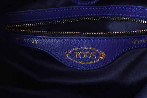 Tod's Small Flower Bag in Camel / Electric Blue