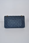 Chanel Denim Quilted 2.55 Reissue 227 Double Flap Bag GHW