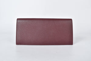 Cartier Must Gusset Bordeaux Red Long Wallet