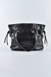 Tod's Distressed Patent Zip Tote