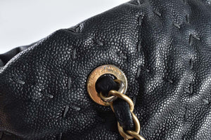 Chanel A66532 Petite Shopper Zip In Black with Stitch Details 15061420